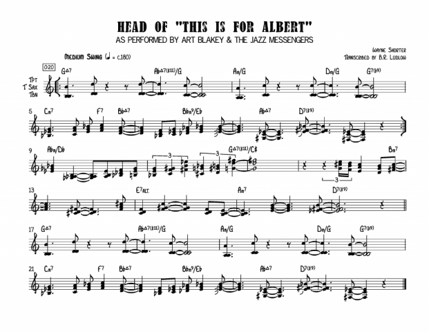 Wayne Shorter - This is for Albert Page 1